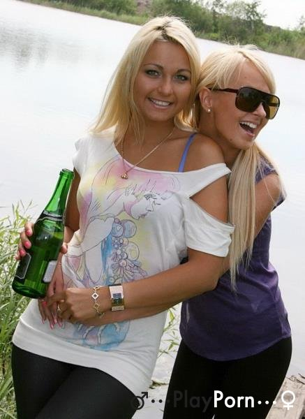 Fuck With Drunk Student Russian Girl By Lake - Lioness And Amiee