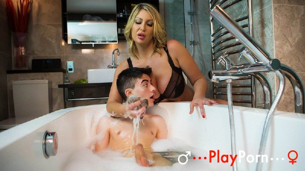 Stepmother Washes Her Son In The Bathroom - Leigh Darby