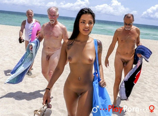 Hot Teen On Nude Beach And Many Nude Old Man - Nikki Kay