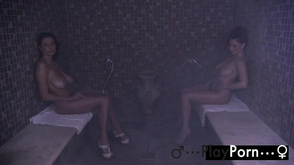 Sudden Lesbian Sex In Sauna - Sensual Jane And Roberta