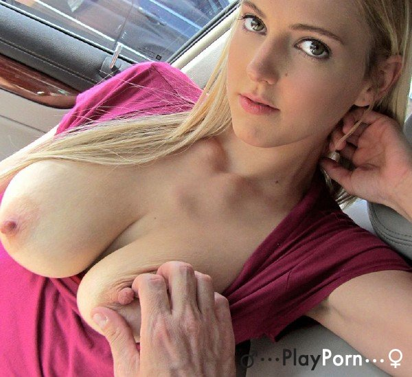 Sex In The Car Blonde Teen - Mila Evans