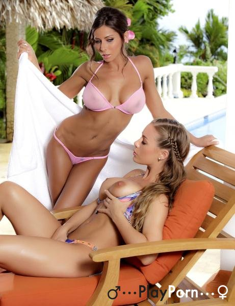 Beautiful Lesbo Sex Of Two Beautiful Girlfriends In Bikini - Madison Ivy And Nicole Aniston
