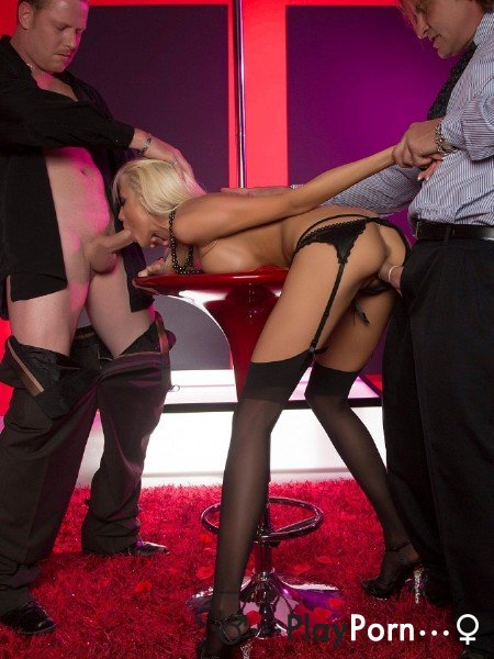 Sex With Beautiful Stripper In Stockings - Rikki Six