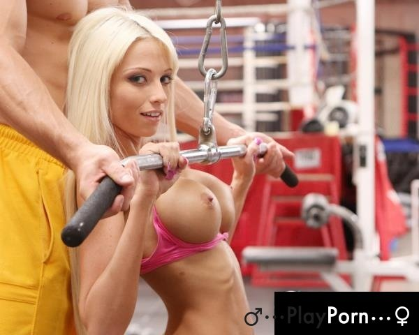 Workout Sex With Hot Blonde Girl - Rikki Six