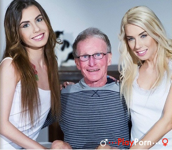 Old Man Have Sex With Two Young Girl - Nesty And Elle Rose