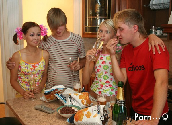 Russian Teen First Foursome - Sheila and Lena
