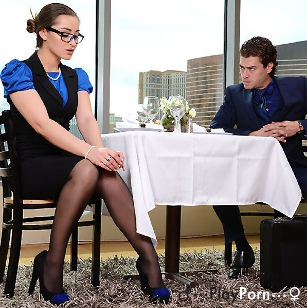 Sex With Hot Secretary In Stocking - Dani Daniels