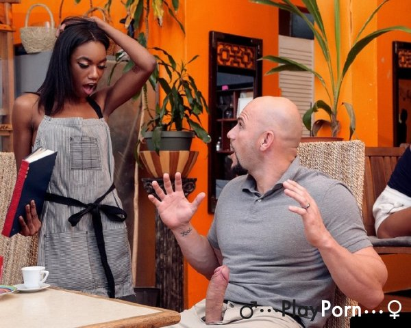 Sex With Ebony Waitress - Leisha Lush