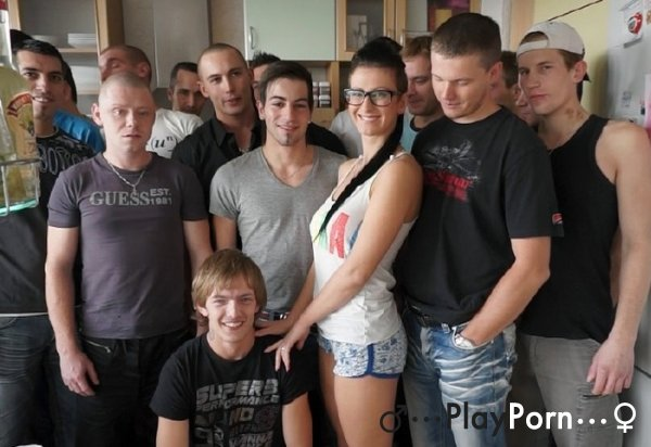 Gang Bang Orgy With One Wooman In Glasses - Emylia Argan