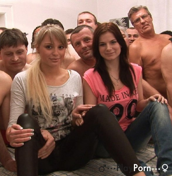 Orgy Creampie With Two Young Girls - Veronika and Charlotte
