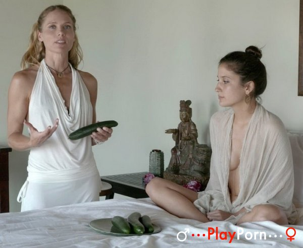 Pussy Play With Cucumber - Beth Leone and Serena