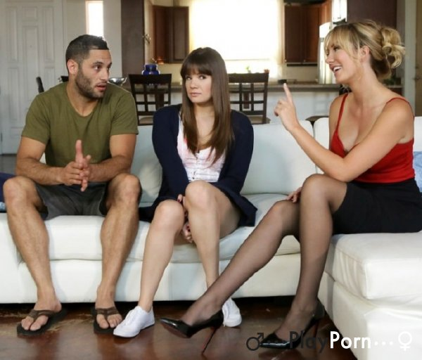 StepMom Want Teach Young StepSis How Need Fuck - Alison Rey and Brett Rossi