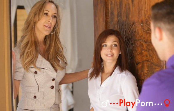 Sex With StepMom And Her Beauty StepDaughter - Brandi Love and Kiera Winters